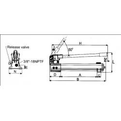 台湾原产 HJ  SP系列 手动液压泵